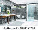 3d render of a modern bathroom... | Shutterstock . vector #1028850940
