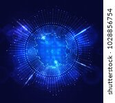 big data visualization....   Shutterstock . vector #1028856754