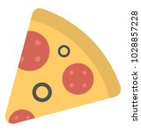 a delicious pizza slice  flat... | Shutterstock .eps vector #1028857228
