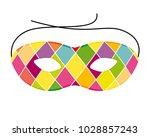 carnival harlequin mask. vector ... | Shutterstock .eps vector #1028857243