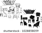 the black and white vector of... | Shutterstock .eps vector #1028858059