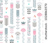seamless pattern with abstract... | Shutterstock .eps vector #1028863570