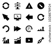 solid vector icon set  ... | Shutterstock .eps vector #1028878924