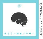 human brain icon | Shutterstock .eps vector #1028881684
