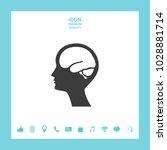 head with brain symbol icon | Shutterstock .eps vector #1028881714