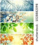 four seasons. a pictures that... | Shutterstock . vector #1028882098