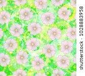 seamless floral pattern  mallow ... | Shutterstock .eps vector #1028883958