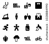 solid vector icon set  ... | Shutterstock .eps vector #1028884990