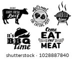 trendy meat quotes. vintage... | Shutterstock .eps vector #1028887840
