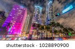 miami downtown traffic  ... | Shutterstock . vector #1028890900