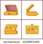 suitcases from different angles ... | Shutterstock .eps vector #1028892400