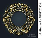 vector golden monogram.... | Shutterstock .eps vector #1028895556