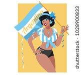 argentina soccer fan | Shutterstock .eps vector #1028900833