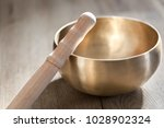 a tibetan singing bowl with a... | Shutterstock . vector #1028902324