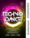 techno music poster. electronic ... | Shutterstock .eps vector #1028902903