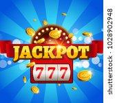 jackpot 777 gambling poster... | Shutterstock .eps vector #1028902948