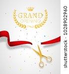 grand opening design template... | Shutterstock .eps vector #1028902960