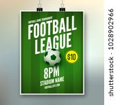 soccer league flyer design... | Shutterstock .eps vector #1028902966