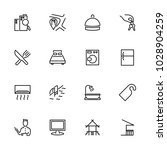 line icon set related to hotel... | Shutterstock .eps vector #1028904259