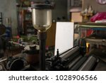 oil gears printing machine | Shutterstock . vector #1028906566