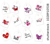 happy valentine's day gift tags ... | Shutterstock .eps vector #1028910538