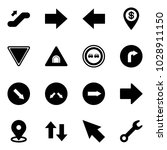 solid vector icon set  ... | Shutterstock .eps vector #1028911150