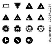 solid vector icon set   barrier ... | Shutterstock .eps vector #1028911294