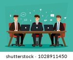 business characters teamwork.... | Shutterstock .eps vector #1028911450