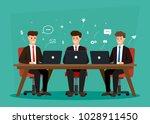 business characters teamwork.... | Shutterstock .eps vector #1028911450