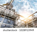 close up industrial view at oil ... | Shutterstock . vector #1028913949