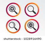 magnifier glass icons. plus and ... | Shutterstock .eps vector #1028916490