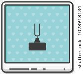 tuning fork flat vector icon. | Shutterstock .eps vector #1028918134