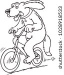 Dog Is Riding A Bike