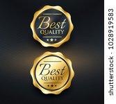 best quality golden label...   Shutterstock .eps vector #1028919583