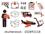 mail delivery  transportation... | Shutterstock .eps vector #102892118