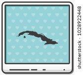 cuba map flat vector icon. | Shutterstock .eps vector #1028922448