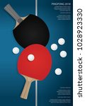 pingpong poster template vector ... | Shutterstock .eps vector #1028923330