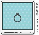 diamond ring flat vector icon.