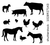 farm animals icons | Shutterstock .eps vector #1028927143