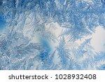 beautiful closeup winter window ...   Shutterstock . vector #1028932408