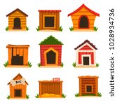 Wooden Dog House Set  Dogs...