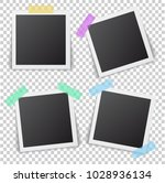 frames of photo with shadow pin ... | Shutterstock .eps vector #1028936134