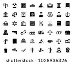 law and justice icons | Shutterstock .eps vector #1028936326