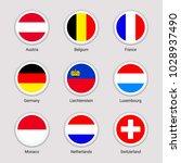 european countries flags set.... | Shutterstock .eps vector #1028937490