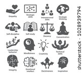 business management icons pack...   Shutterstock . vector #1028939794