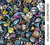 cartoon cute doodles space... | Shutterstock .eps vector #1028942500