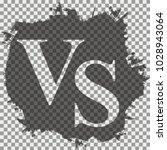 versus logo. vs vector letters... | Shutterstock .eps vector #1028943064