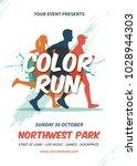 color run flyer template | Shutterstock .eps vector #1028944303