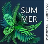 summer background with tropical ... | Shutterstock .eps vector #1028944720