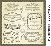set of design elements  labels  ... | Shutterstock .eps vector #102894500